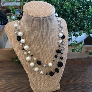 White House Black Market Pearl & Bead Necklace